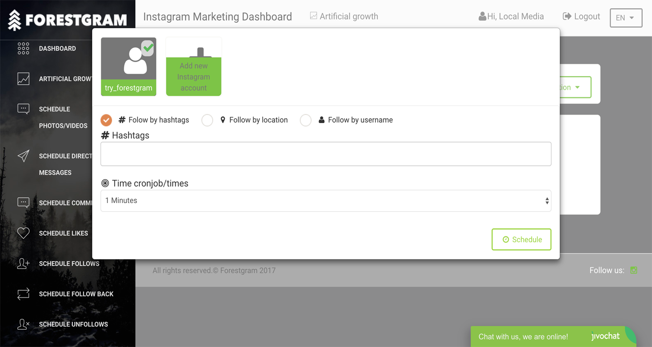 Forestgram.com Innovative Marketing Tool